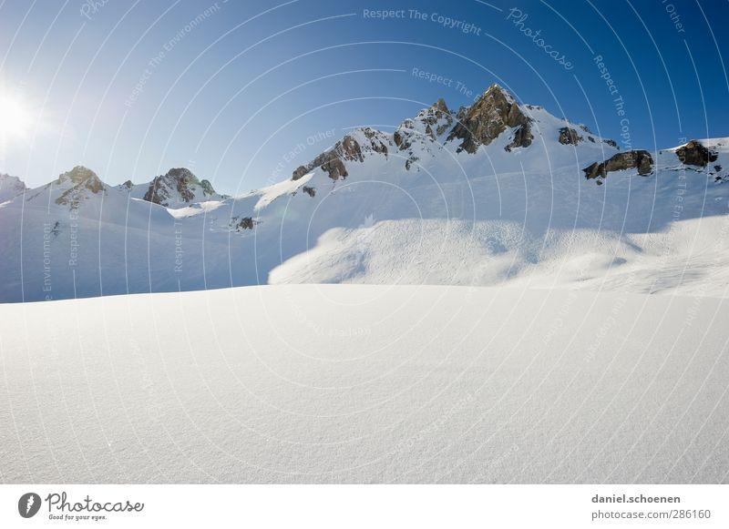 einmal wachsen und Kanten schleifen, bitte ! Ferien & Urlaub & Reisen Winter Schnee Winterurlaub Berge u. Gebirge Landschaft Wolkenloser Himmel Schönes Wetter