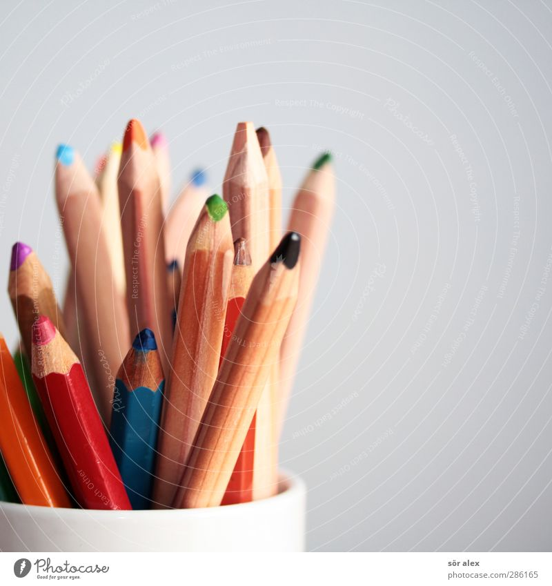 Farbauswahl blau grün rot braun orange Freizeit & Hobby Design lernen malen Kreativität viele zeichnen Kindergarten Schreibstift Werbebranche Printmedien