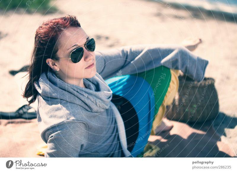 cool girl (II) Mensch Frau Jugendliche Ferien & Urlaub & Reisen Wasser schön Sommer Meer Strand Erwachsene Junge Frau Leben feminin Gefühle Küste Sand
