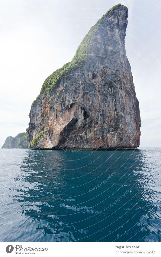 Thailand - Ko Phi Phi Le - Krabi Natur Ferien & Urlaub & Reisen Wasser Meer Landschaft Berge u. Gebirge Freiheit Stein Felsen Reisefotografie Tourismus frei