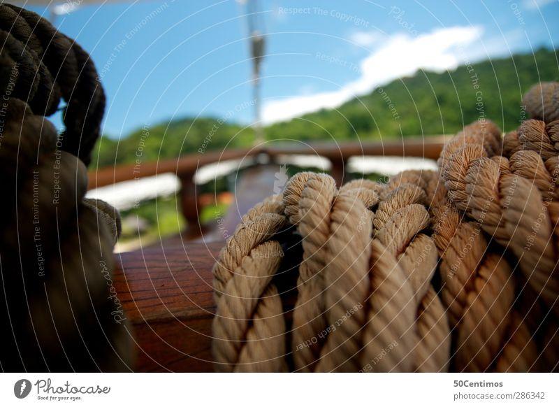 Anker vor dem Paradies blau Ferien & Urlaub & Reisen grün Sommer Meer Strand Wasserfahrzeug Blauer Himmel Karibisches Meer Brasilien Karibik