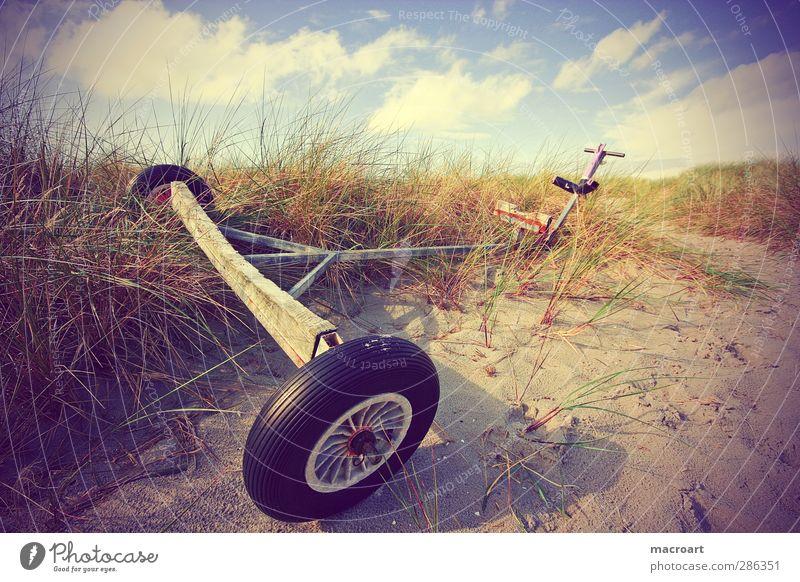 alter pollerwagen Ferien & Urlaub & Reisen Pflanze Sommer Erholung Strand Herbst Gras Küste Ausflug Düne Sommerurlaub