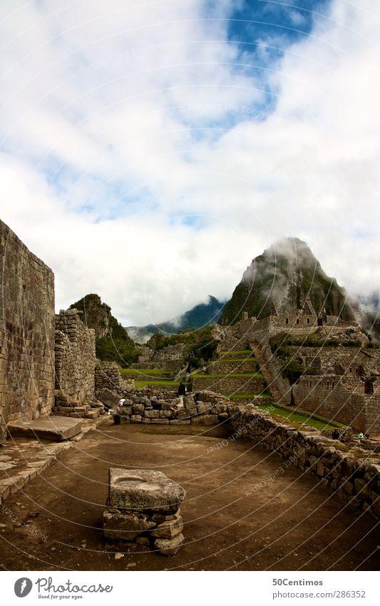 Machu Picchu, Peru Pflanze Wolken Südamerika Weltkulturerbe Apokalypse Peru Cuzco Machu Pichu