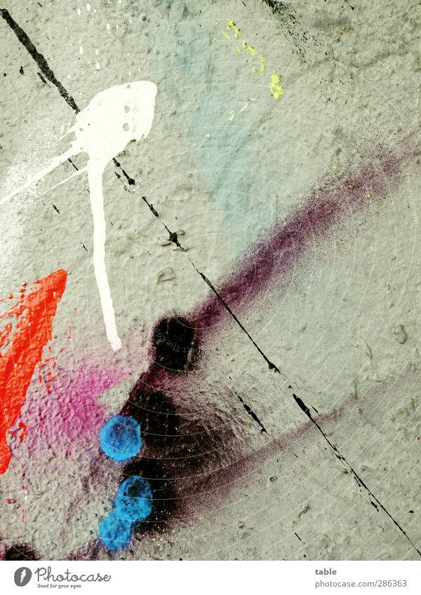 ColorClash Lifestyle Anstreicher Handwerk Mauer Wand Fassade Graffiti Kugel Linie Streifen Tropfen Coolness dick dreckig dünn einzigartig rebellisch Stadt blau