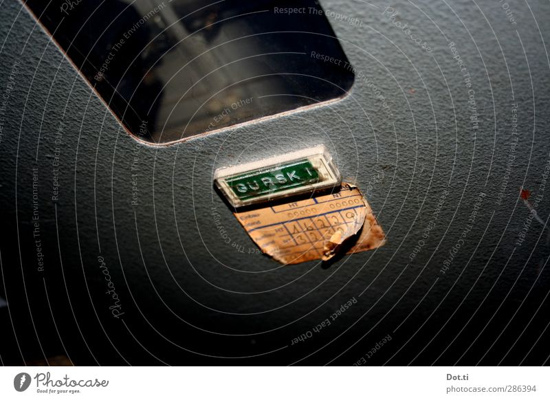 ein echter Gurski Technik & Technologie Metall Identität Stromkasten Schilder & Markierungen Namensschild Beschriftung Ziffern & Zahlen Zähler Sicherungskasten