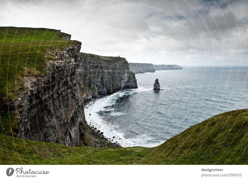 Rauhland Ferien & Urlaub & Reisen Abenteuer Umwelt Wasser Wolken Sturm Gras Hügel Felsen Berge u. Gebirge Klippe Küste Meer Atlantik Cliffs of Moher