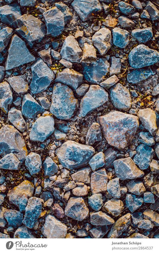 Steine auf dem Boden Textur Garten Frühling ästhetisch Hintergrundbild Strukturen & Formen Morgen Vogelperspektive gerade steinig Steinstrand Steinboden