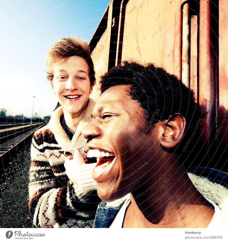 friendship Lifestyle Stil Mensch maskulin Junger Mann Jugendliche Freundschaft Leben Kopf Haare & Frisuren Gesicht 2 13-18 Jahre Kind 18-30 Jahre Erwachsene