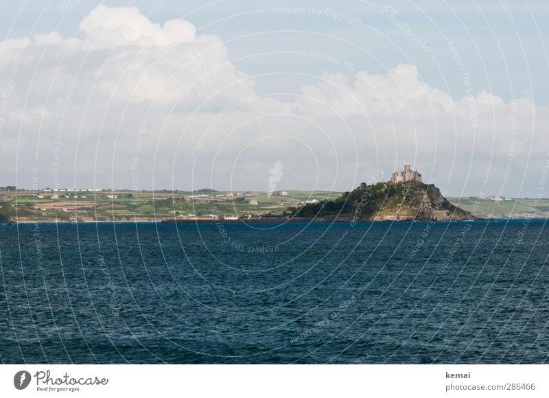 St. Michael's Mount Ferien & Urlaub & Reisen Tourismus Ausflug England Umwelt Natur Landschaft Wasser Himmel Wolken Sonne Sommer Schönes Wetter Hügel Felsen