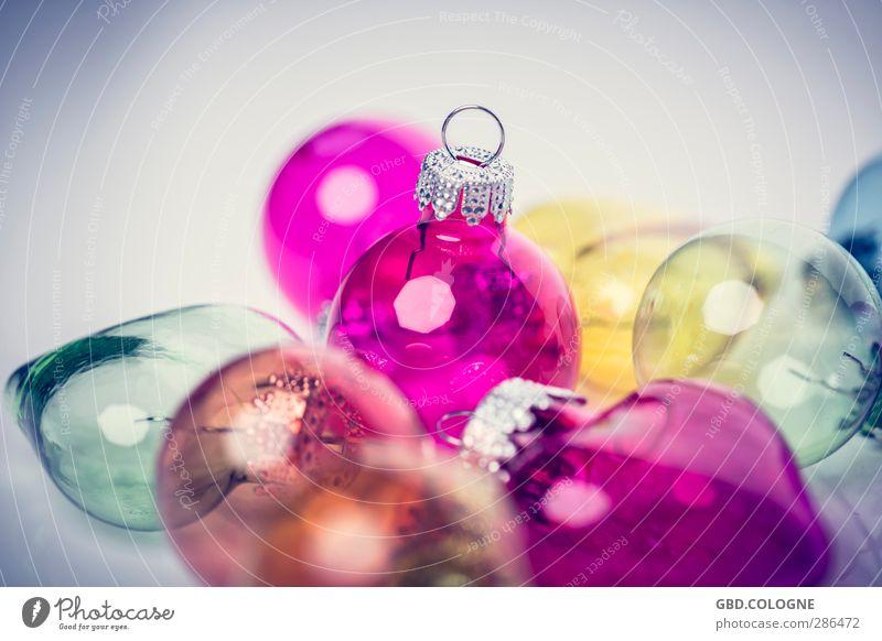 Baum gesucht (3) Dekoration & Verzierung Kitsch Krimskrams Glas Kugel klein gelb rosa Weihnachten & Advent Weihnachtsdekoration Baumschmuck Haken Dezember