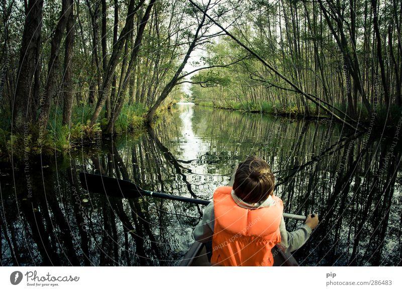 amazonass Mensch Junge Haare & Frisuren Rücken 1 8-13 Jahre Kind Kindheit Umwelt Natur Pflanze Wasser Herbst Schönes Wetter Baum Seeufer Flussufer Teich