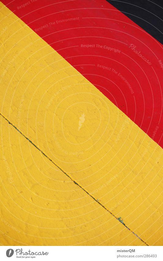 4:4 Kunst ästhetisch Streifen Patriotismus Bundesadler Deutsche Flagge Deutschland Fahne Symbole & Metaphern schwarz rot gold gelb verrückt Europameisterschaft