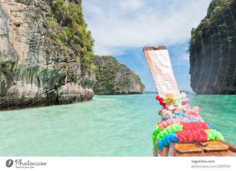 In See stechen - Thailand Natur Ferien & Urlaub & Reisen Wasser Meer Blume Strand Landschaft Berge u. Gebirge Küste Freiheit Sand Felsen Reisefotografie