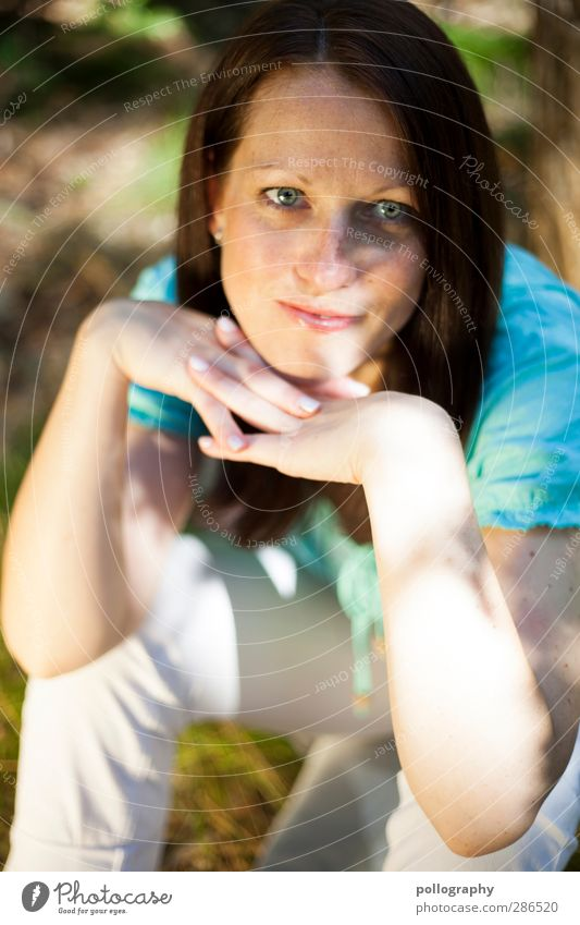 see what happens (1) schön Wohlgefühl Ausflug Mensch feminin Junge Frau Jugendliche Erwachsene Leben 18-30 Jahre Natur Pflanze Schönes Wetter Baum Wiese Feld