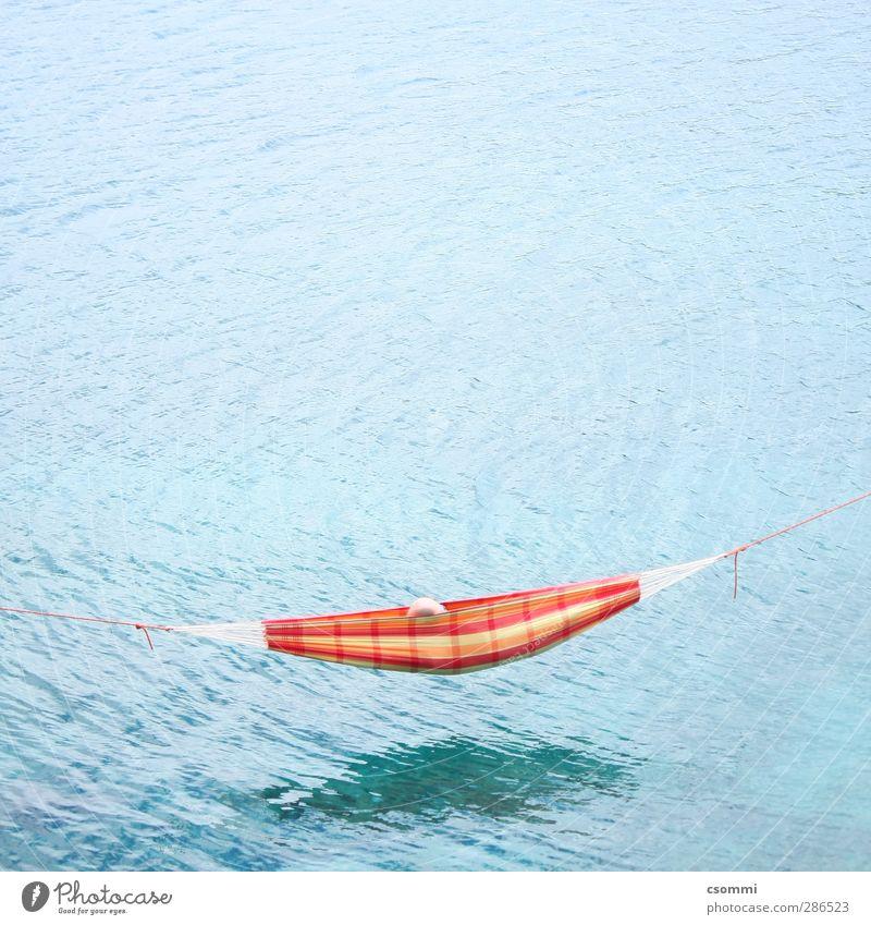 abhängen Ferien & Urlaub & Reisen Sommer Meer Einsamkeit Erholung Freiheit träumen Schwimmen & Baden außergewöhnlich Zufriedenheit Abenteuer schlafen Seil