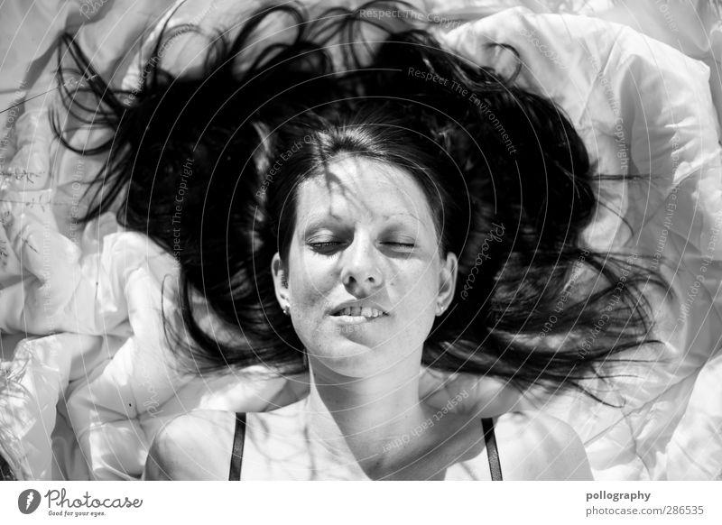 enjoy (9) Mensch Frau Natur Jugendliche schön Sommer Freude Erwachsene Junge Frau Leben feminin Gefühle Haare & Frisuren Glück Kopf 18-30 Jahre