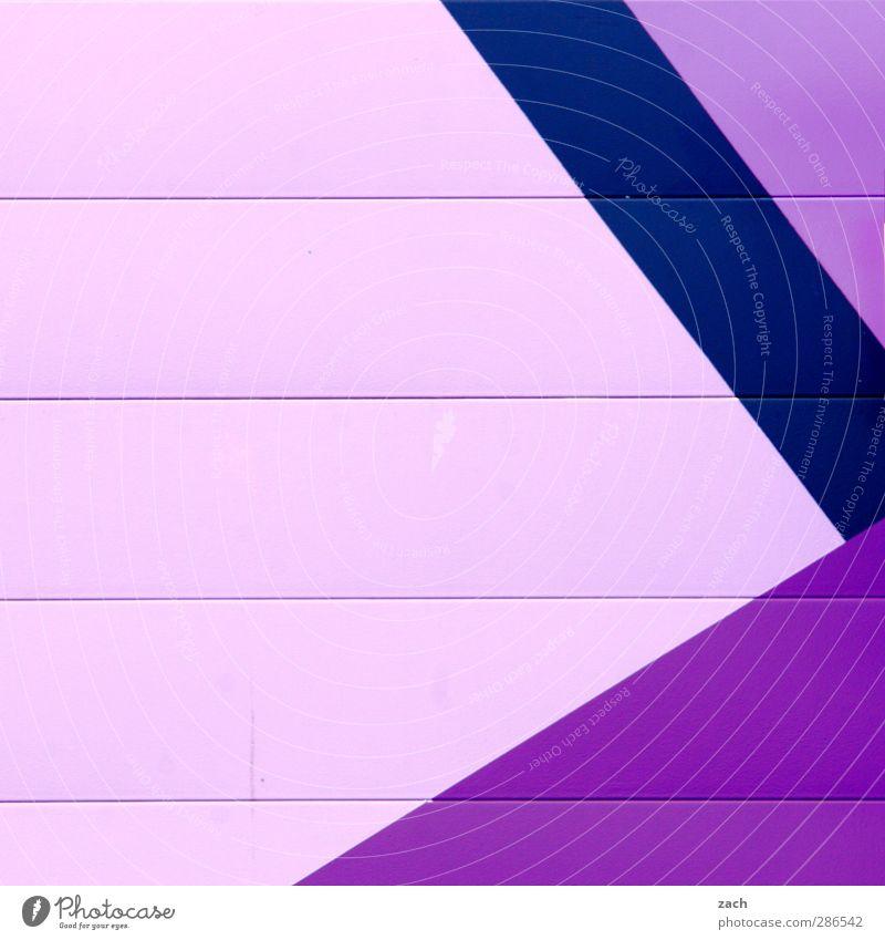 heute blau Stadt Haus Wand Architektur Mauer Gebäude Linie rosa Fassade violett Lagerhalle eckig Industrieanlage