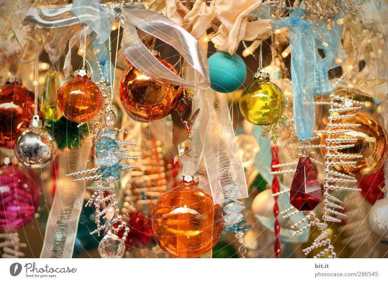 Bonbons für den Weihnachtsrausch Weihnachten & Advent Glück Religion & Glaube Innenarchitektur Feste & Feiern glänzend Glas Fröhlichkeit Häusliches Leben verrückt Dekoration & Verzierung Schnur Kitsch Weihnachtsbaum Kugel Sammlung