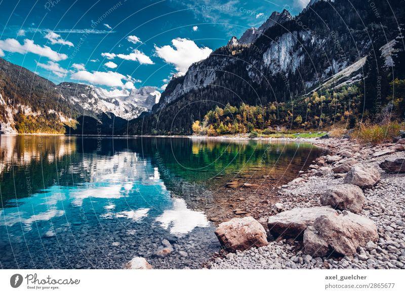 Gosausee Ferien & Urlaub & Reisen Natur Sommer Landschaft Sonne Erholung ruhig Ferne Leben Herbst Tourismus Freiheit See Ausflug Zufriedenheit Wetter