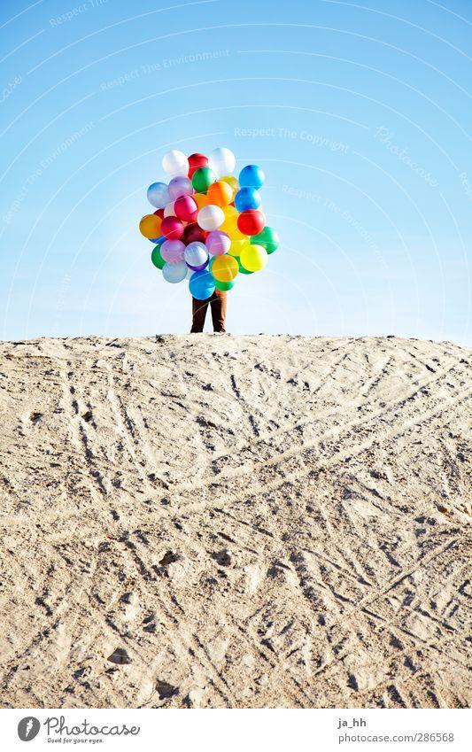 balloons Freude Glück Spielen frei Lebensfreude Versteck verstecken Luftballon mehrfarbig Kind kindlich Sand Düne Kind geblieben Kind im Manne Spielzeug
