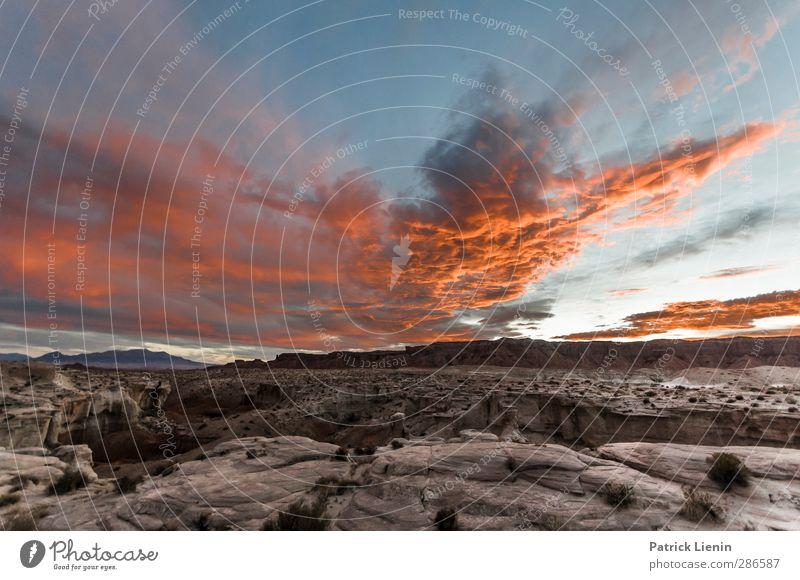 Goblin Valley Umwelt Natur Landschaft Urelemente Erde Feuer Luft Himmel Wolken Sonnenaufgang Sonnenuntergang Klima Wetter Schönes Wetter Felsen Berge u. Gebirge