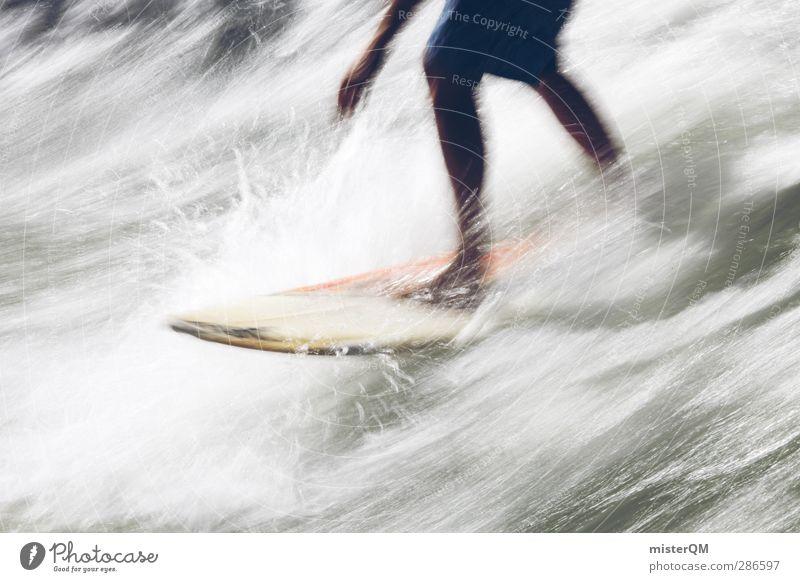 White Water. Wasser Sommer Meer Sport Bewegung Beine Wellen Aktion Lifestyle ästhetisch Wassertropfen sportlich Sommerurlaub Gleichgewicht Surfen Sportler