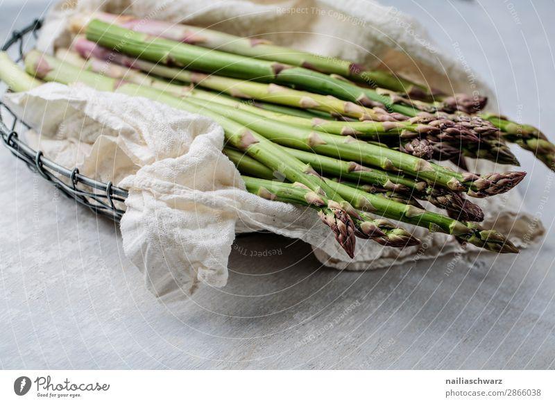 grüner Spargel Lebensmittel Gemüse Spargelzeit Spargelbund Bioprodukte Vegetarische Ernährung Diät Fasten Slowfood Schalen & Schüsseln Lifestyle