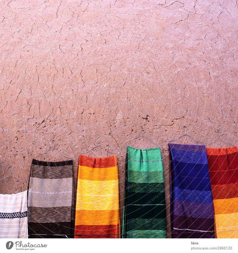 Tücher Wand Mauer Mode kaufen einzigartig Stoff Afrika gestreift verkaufen Schal Tuch Marokko