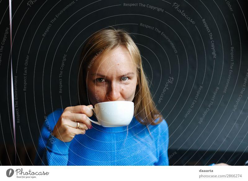 Teepause trinken Heißgetränk Kaffee Tasse Becher Lifestyle Stil Freude Leben harmonisch Freizeit & Hobby Abenteuer Freiheit Häusliches Leben Veranstaltung