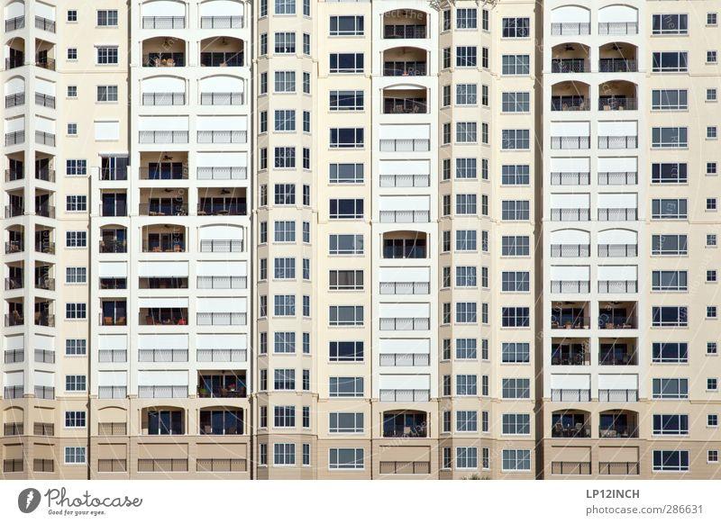 Floridanische Bettenburg II. VI Ferien & Urlaub & Reisen Haus Fenster Architektur Zusammensein Wohnung Fassade Tourismus Design Häusliches Leben schlafen retro