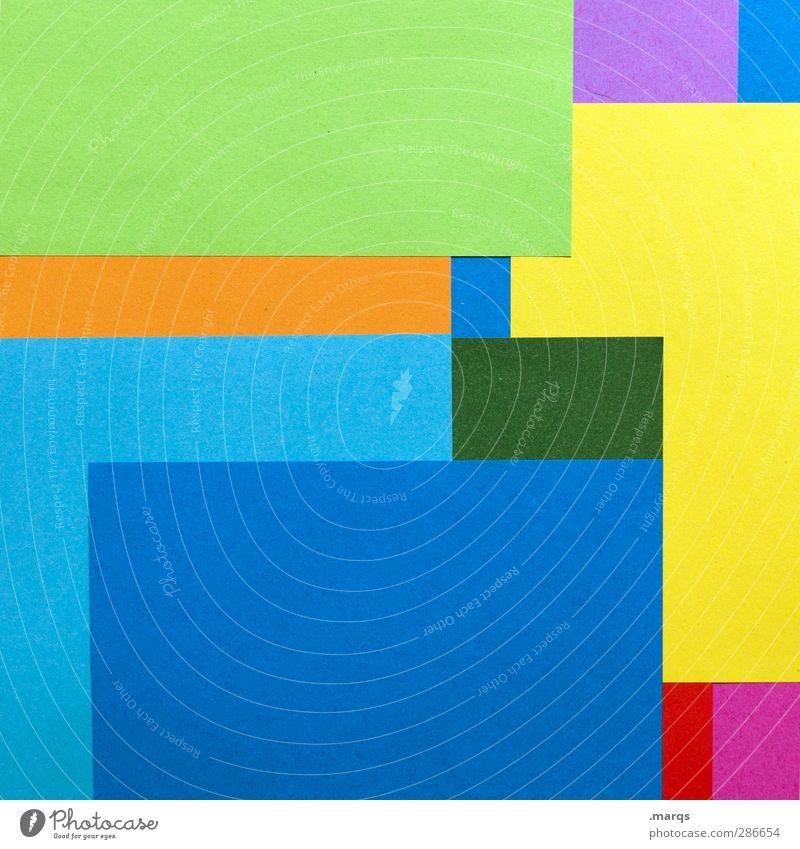 Blocks schön Farbe Stil Hintergrundbild Kunst Ordnung modern Design Dekoration & Verzierung Papier Grafik u. Illustration trendy eckig