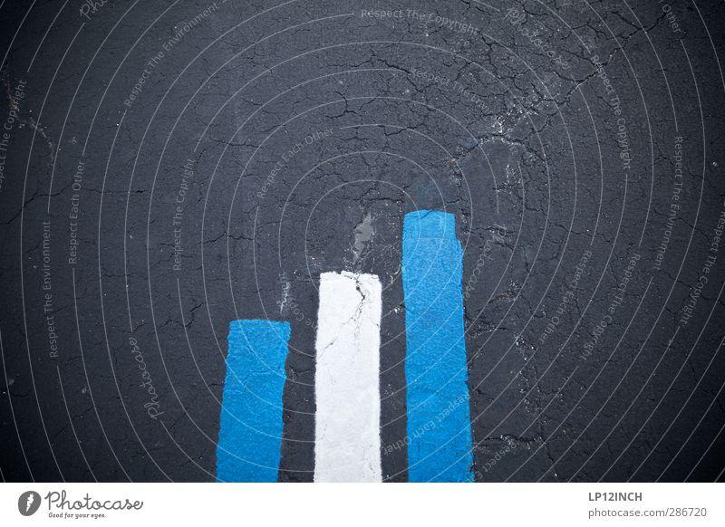 3 0 0. XII blau Straße Linie Kunst Schilder & Markierungen Design Beton Zeichen Asphalt Straßenkunst Balken Markierungslinie