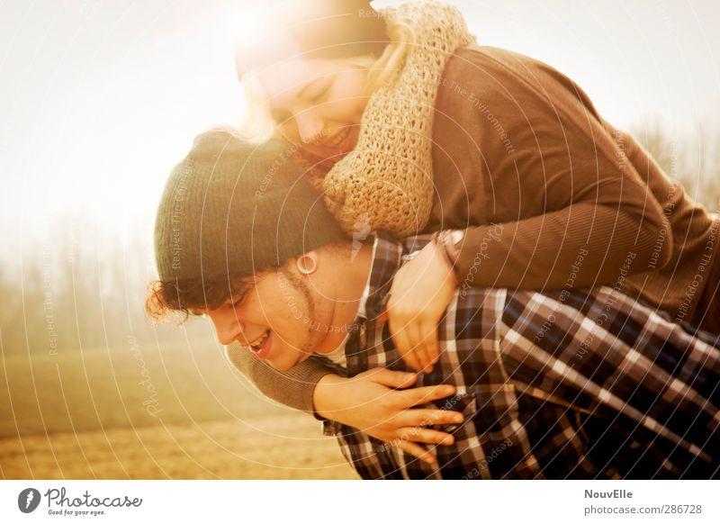 Heartburn. Mensch Jugendliche Freude Erwachsene Junge Frau Liebe Leben feminin Gefühle Junger Mann Glück 18-30 Jahre Paar Zusammensein maskulin Fröhlichkeit