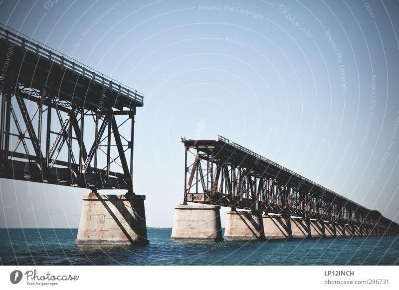 Bahia Honda. XIV Natur Ferien & Urlaub & Reisen Wasser Sommer Meer Landschaft Umwelt Straße Angst Tourismus gefährlich Abenteuer Brücke USA Autobahn Trennung