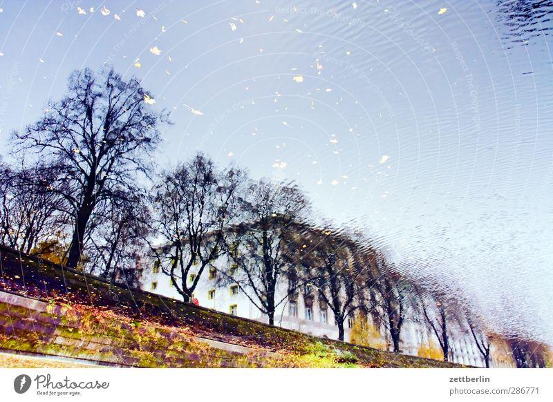 Landwehrkanal - 3001 Himmel Natur schön Landschaft Haus Umwelt Herbst Wetter Klima Verkehr gut Schifffahrt Verkehrswege Flussufer Anlegestelle Herbstlaub