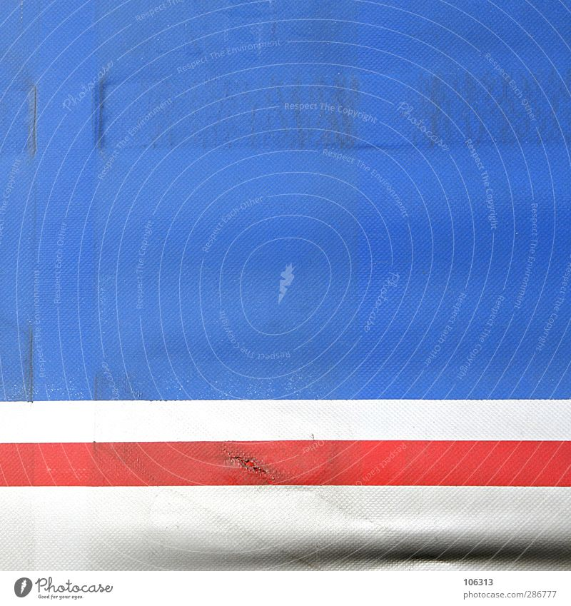 red lips Hinweisschild Warnschild blau rot weiß Mund Kussmund Würfel Quadrat graphisch plane Tick Fehler freiraum Lastwagen Muster Strukturen & Formen Farbfoto