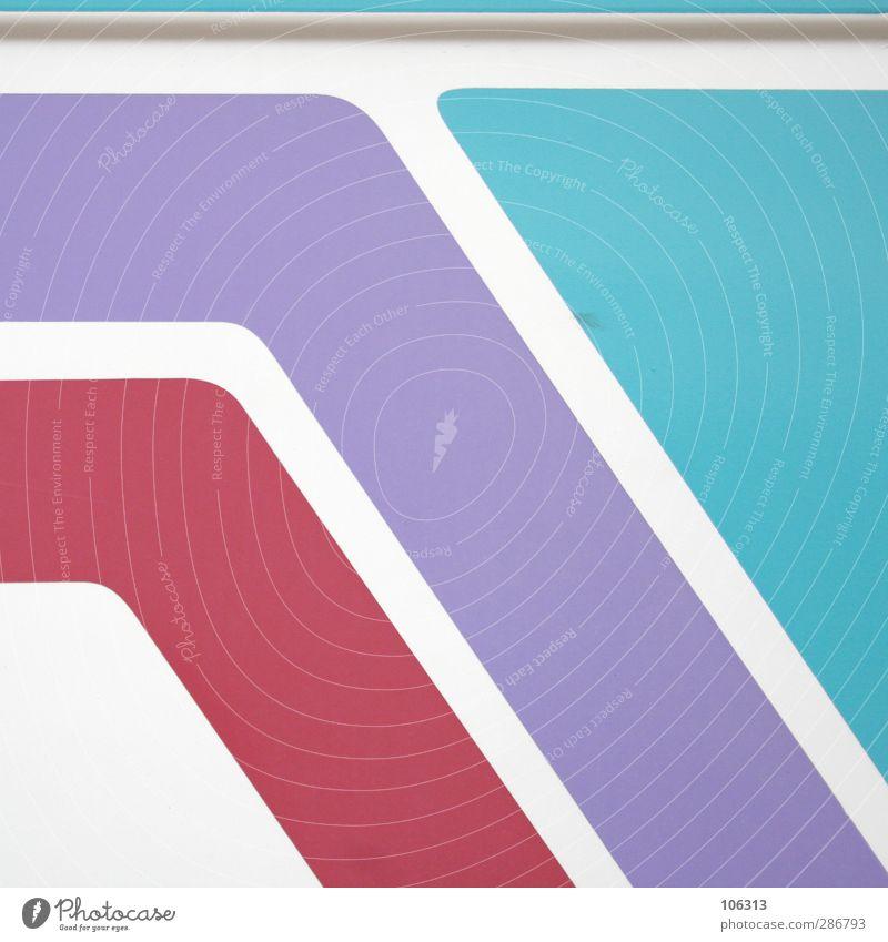 Mittelweg Schilder & Markierungen violett rot türkis Strukturen & Formen Linie graphisch Farbfoto