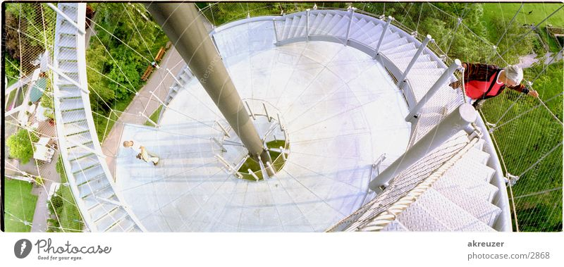 turm + peter in stuttgart Panorama (Aussicht) Architektur Metall Mensch hoch groß Panorama (Bildformat)