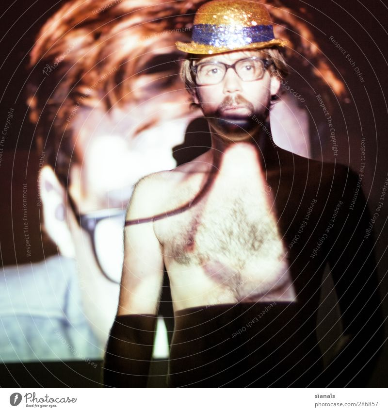 walk on the wild side Mensch Mann Erwachsene Erotik Stil Party Hintergrundbild maskulin Brille Show Hut ausdruckslos Kontrolle harmonisch Freak Homosexualität