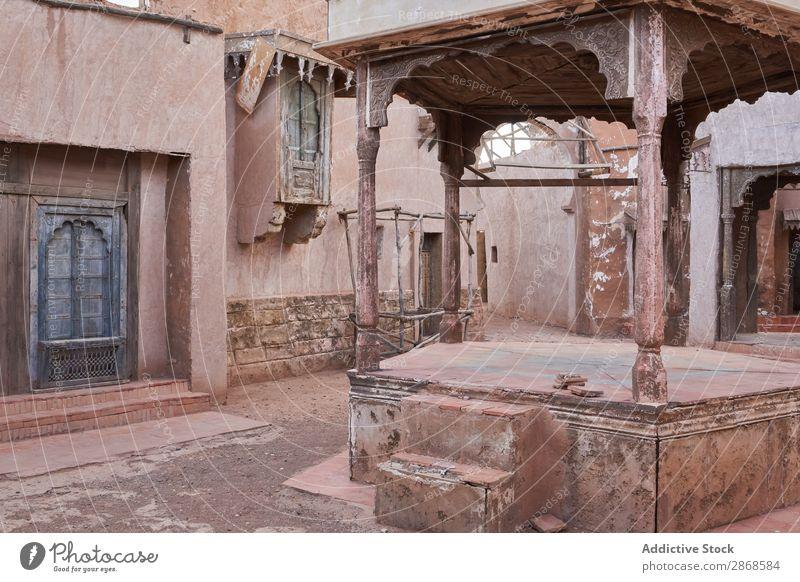 Alte schmale Straße der alten Stadt Nacht Marrakesch Marokko Haus Großstadt Armut antik Abend erstaunlich Aussicht Architektur Skyline historisch Gebäude Gang