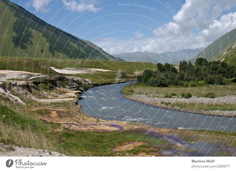 Truso-Tal Natur Ferien & Urlaub & Reisen ruhig Landschaft Berge u. Gebirge Freiheit Ausflug Fluss Asien Schlucht Russland Landschaftsformen Georgien