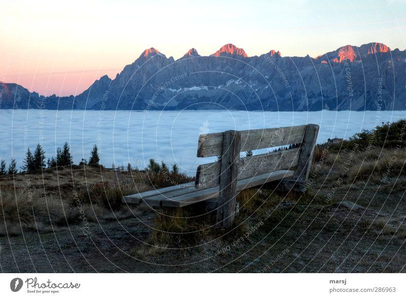 Erste Reihe Fußfrei II Himmel Natur blau Ferien & Urlaub & Reisen Sommer Landschaft Erholung Ferne Berge u. Gebirge Herbst Frühling Holz Horizont Felsen braun