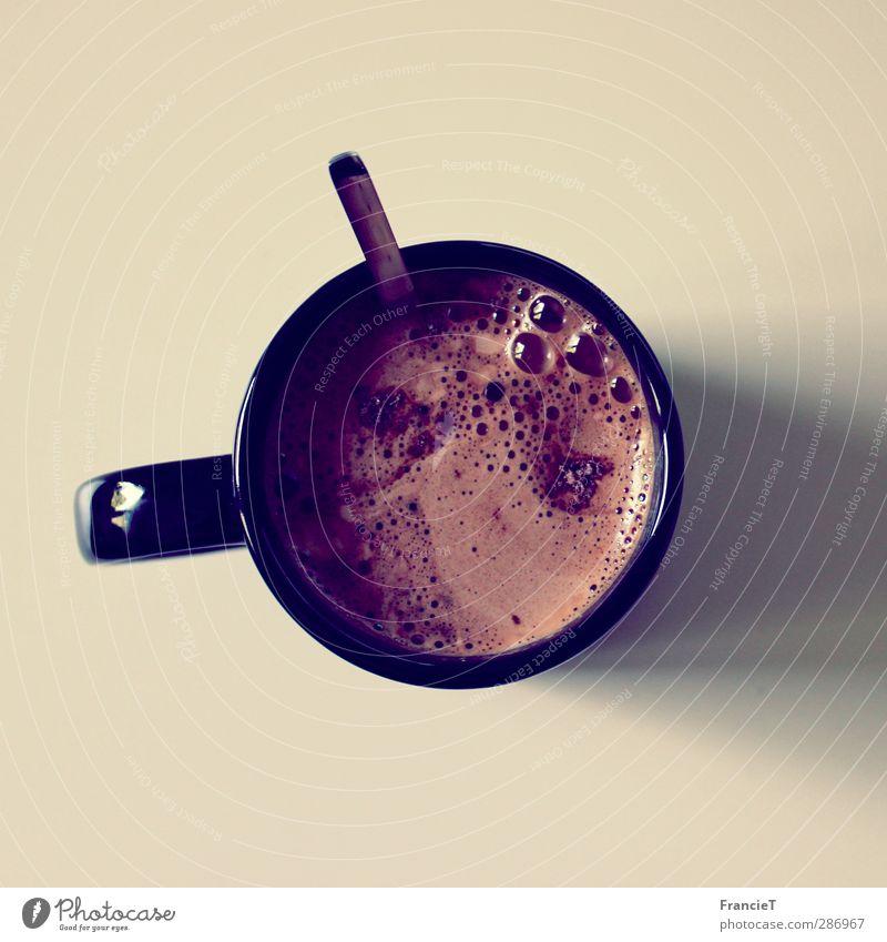 Kaffeepause ruhig Erholung Wärme Lebensmittel Zufriedenheit frisch Tisch Getränk süß rund trinken genießen heiß lecker Flüssigkeit