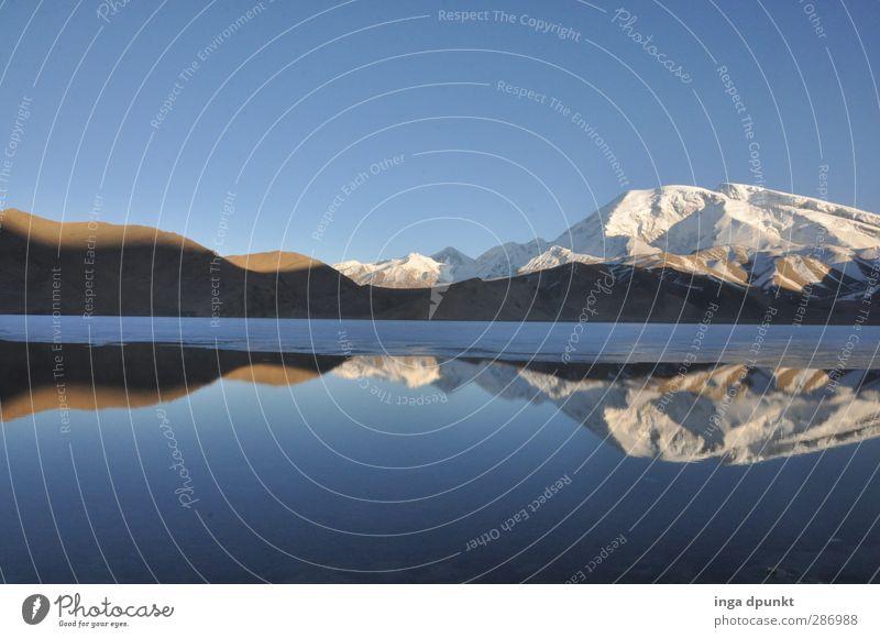 Karakul Lake II Umwelt Natur Landschaft Urelemente Wasser Schönes Wetter Eis Frost Felsen Berge u. Gebirge Gipfel Schneebedeckte Gipfel Gletscher Seeufer China