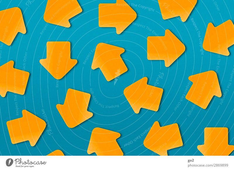 Wohin? Zeichen Pfeil viele blau orange beweglich Platzangst Zukunftsangst Stress Nervosität gereizt Frustration Aggression Angst anstrengen chaotisch