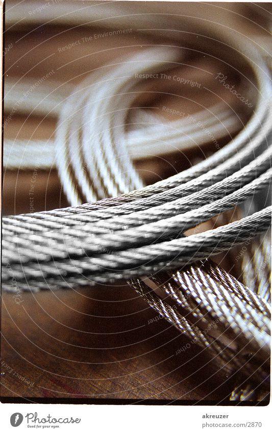 2 seile Unschärfe Industrie Metall Seil Reflexion & Spiegelung