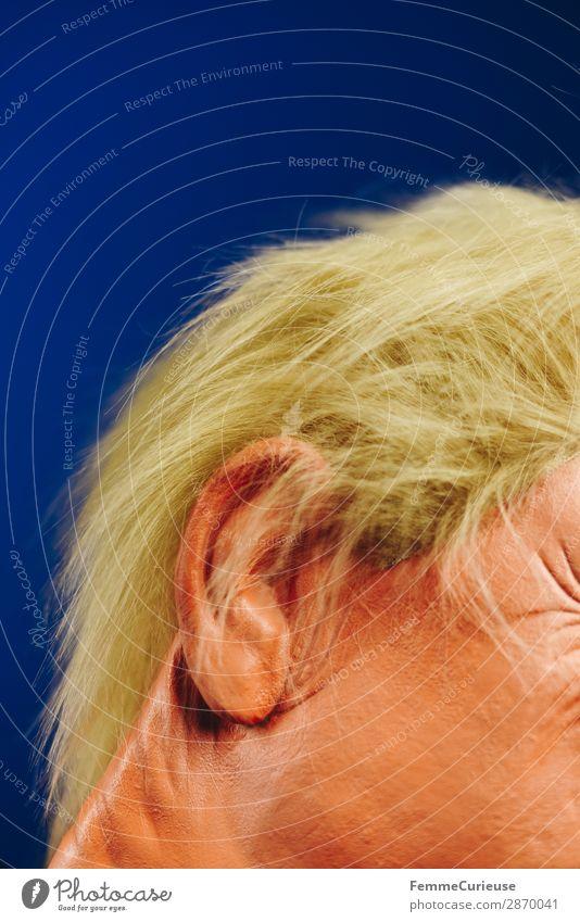 Hairstyle of a well-known politician Mensch blau Gesicht Haare & Frisuren orange USA Ohr Politik & Staat Politiker Präsident