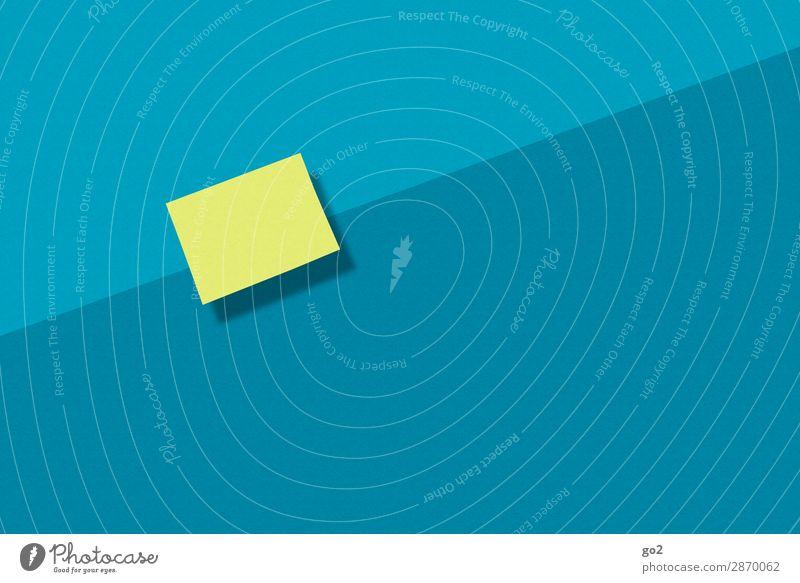 Notizzettel Schule Studium Büroarbeit Arbeitsplatz Papier Zettel ästhetisch einfach blau gelb Farbe Idee Inspiration Kommunizieren lernen Ordnung blanko leer