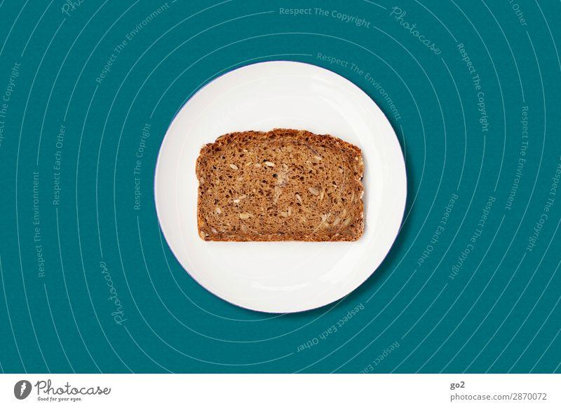 Brot auf Teller Lebensmittel Teigwaren Backwaren Ernährung Frühstück Abendessen Bioprodukte Vegetarische Ernährung Diät Fasten Gesunde Ernährung ästhetisch