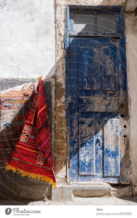 Teppichhändler Haus Wand Tür Marokko